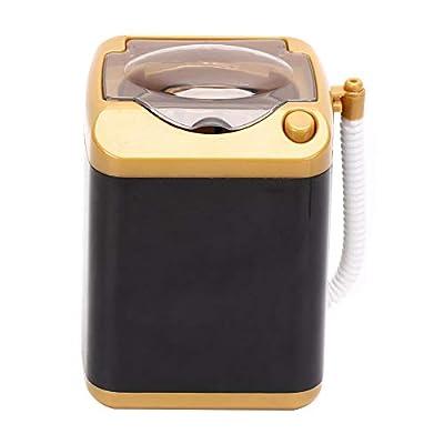 Uxsiya Electric Mini Washing Machine Automatic Makeup Brush Cleaner Children Toy Mini Washing Machines for Makeup Sponges(Gold)