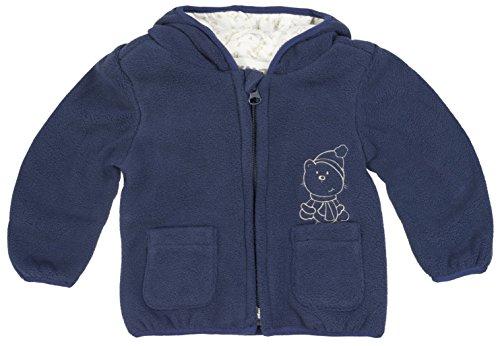 Kanz Unisex Baby Fleecejacke m. Kapuze 1/1 Arm Jacke, Blau (Dress Blue Blue 3043), 74