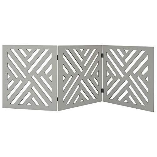 Etna 3-Panel Lattice Design Wooden Pet Gate