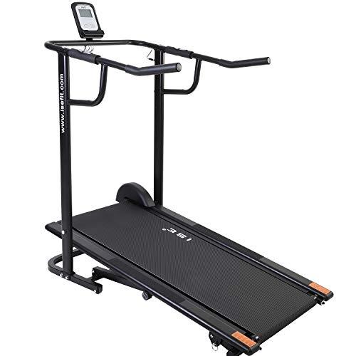 ISE Laufband ohne Motor klappbar Laufband Fitnessgerät Heimtrainer für Gehn und Lauftraining SY-M1