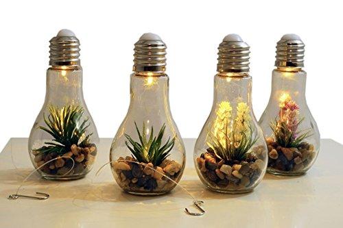 4x LED Deko Glühbirne - Glas Glühlampe Hängelampe Tisch Leuchte Licht Lampe