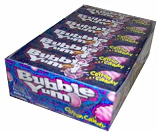 Bubble Yum Cotton Candy Flavored Gum - 18 Packs of 5 Pieces (90 Total Pieces)