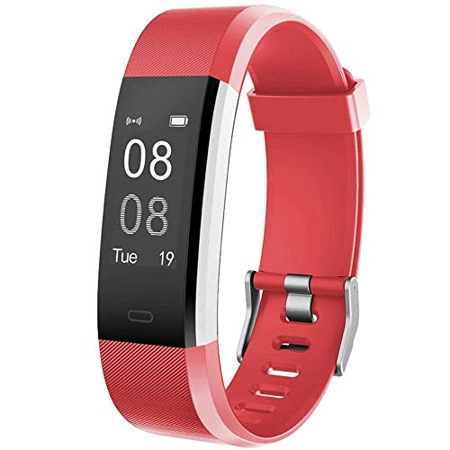 Willful Fitness Tracker with Heart Rate Monitor, Fitness Watch Activity Tracker IP67 Waterproof Slim Smart Band with Step Calorie Counter 14 Sports Mode Sleep Monitor,Pedometer for Kids Women Men Red