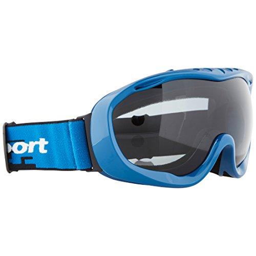 Ultrasport 331500000093 Gafas de esquí y Snowboard con Lente antivaho, Unisex Adulto, Negro/Gris, Talla Única
