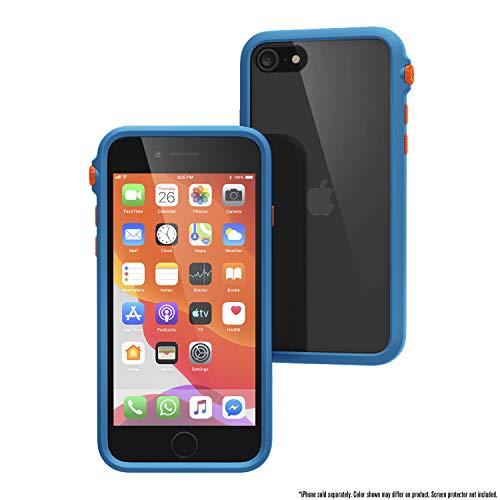 Catalyst Impact Case für iPhone SE 2020, Hülle kompatibel mit iPhone 8/7, Armband-Lanyard inklusive, kabelloses Laden, Fallschutz, drehbarer Stummschalter - Blueridge Sunset