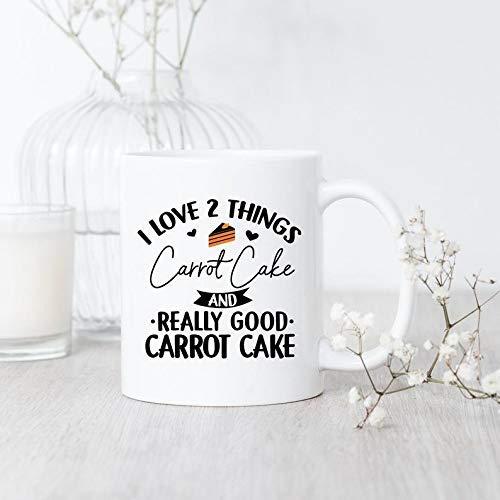 N\A Amor I Taza de Zanahoria Pastel de Zanahoria Pastel de Taza de la Torta de Zanahoria Amante de lo Dulce del Postre Regalo Taza del Amante del Panadero Taza de café Regalo para