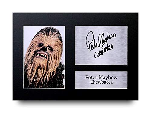 HWC Trading Peter Mayhew A4 Ungerahmt Signiert Gedruckt Autogramme Bild Druck-Fotoanzeige Geschenk Für Star Wars Chewbacca Filmfans