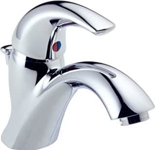 Delta Faucet Classic Single-Handle Bathroom Faucet with Drain Assembly, Chrome 583LF-WF