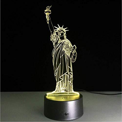 Freiheitsstatue Dekorationen 3D Lampe Led Usb Kreatives Nachtlicht 7 Farbwechsel Acryl Touch Schalter Schlafzimmer Lampe Weihnachtsgeschenke