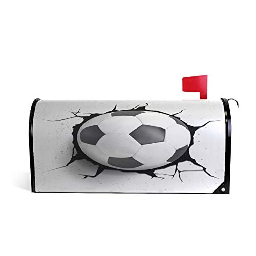 Treety Magnetic Mailbox Cover Sport Soccer Ball Home Garden Yard Outdoor Deco