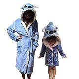 IAMZHL Albornoz para Mujeres, camisón para niños, Traje de baño de Animales, Bata para niños y niñas, Ropa de Dormir cálida de Invierno, Pijamas de Dibujos Animados-stitch-5-3T