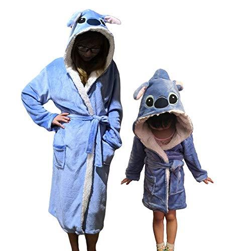 Bademantel für Frauen Kinder Nachthemd Tier Badeanzug Junge Mädchen Robe Winter...