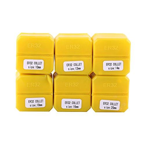 Juego de 6 alicates de sujeción para grabado (10 mm, 12 mm, 14 mm, 16 mm, 18 mm, 20 mm)