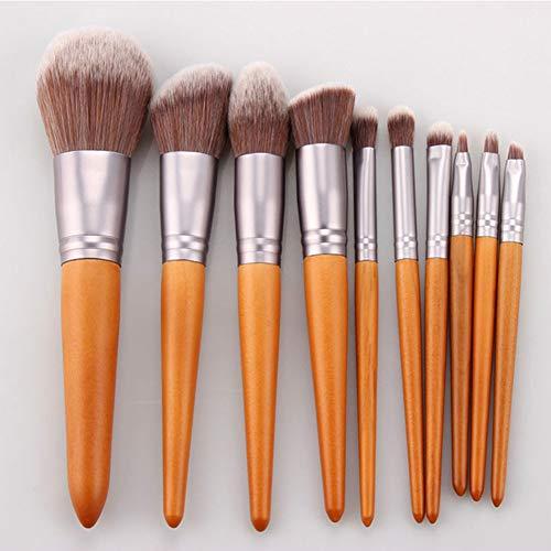 10 pinceau de maquillage super doux pinceau de maquillage ensemble blush brosse fondation pinceau brosse ombre à paupières brosse à sourcils pinceau fibre artificielle facile à transporter