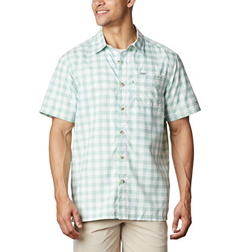 Columbia Camisa de Campamento de Marea súper Holgada para Hombre, Hombre, 1653761, Tartán Palaka Tono Aqua, XXL