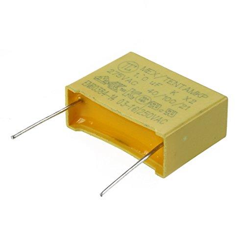 Condensador - SODIAL(R) 10pzs AC 275V 1uF Condensador de seguridad de pelicula de polipropileno
