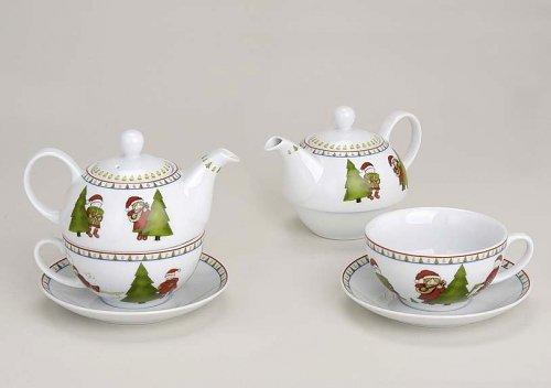 Weihnachten Teekannen-Set - Tea for One