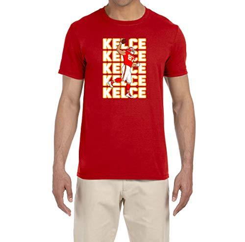 Tobin Clothing RED Kansas City Kelce Text Pic T-Shirt Adult 2XL