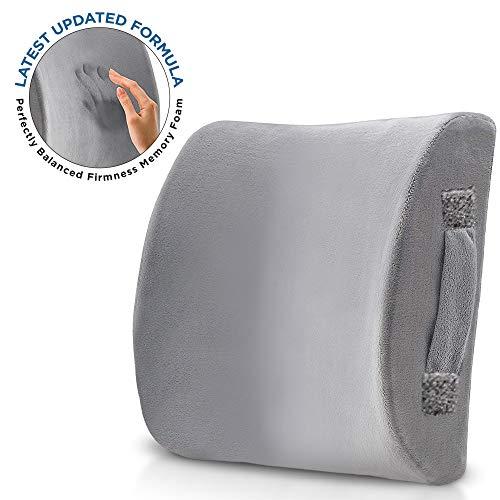 Pillow Arcade Cojín Lumbar de Espuma viscoelástica con firmeza equilibrada, diseñado para aliviar el Dolor de Espalda Baja, para Asiento de Coche, Silla de Oficina, sillón reclinable, etc.