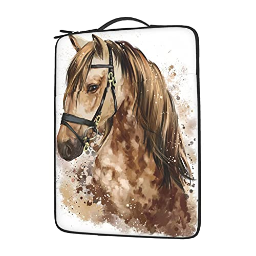 OYQGEJGPJA Horse Head Watercolor Drawing Laptop Cover Protective Carrying Case Cover for 13in14in15.6in Lenovo Dell Hp Asus Acer Chromebook