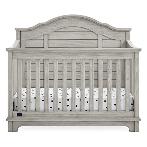 Delta Children Simmons Kids Asher 6-in-1 Convertible Crib with Toddler Rail, Rustic Mist