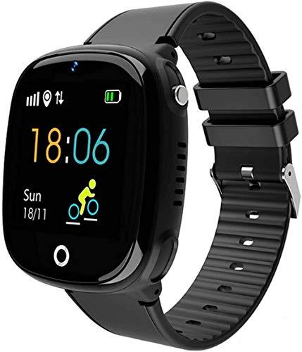 Smartwatch Kinder Telefonuhr, Intelligente Uhr mit LBS Tracker SOS Handy Touchscreen, IP67 Wasserdicht Voice Chat Kamera Wecker Digitale Armbanduhr, für Jungen Mädchen Geschenk (??)