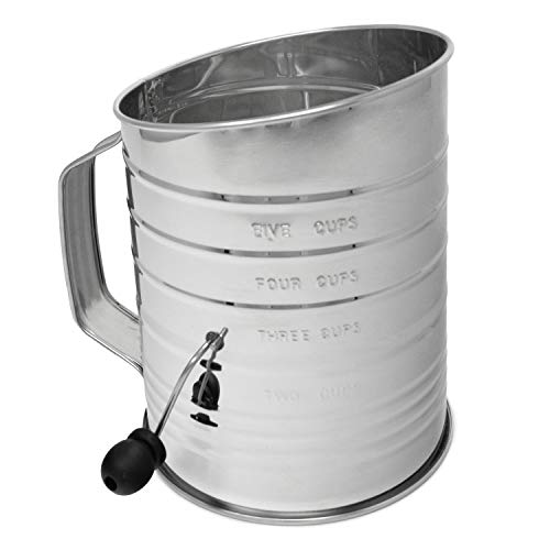 Norpro 5-Cup Stainless Steel Crank Flour Sifter