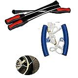 QianChen 3 Palanca de Neumático Tool Spoon + 2Kit de Herramientas Borde Protector de Rueda Extracción para Cambio Llanta de Bicicleta para Motocicleta Bicicleta