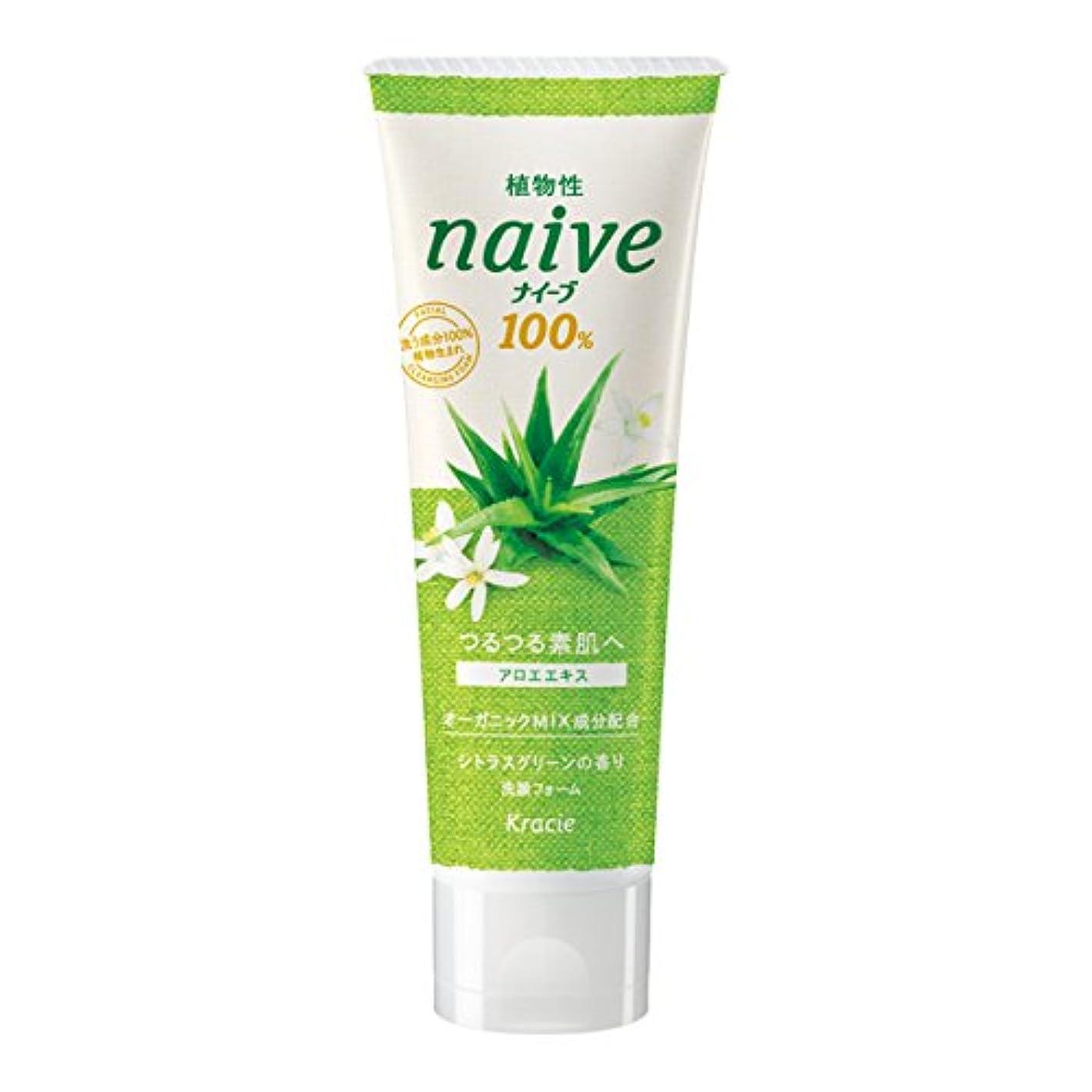 戦略保有者弁護士ナイーブ 洗顔フォーム アロエエキス配合 シトラスグリーンの香り 110g