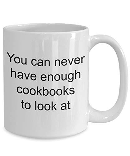 Kookboek Collector Mok kookboeken Koffiemok Je kunt nooit genoeg kookboeken hebben om naar te kijken