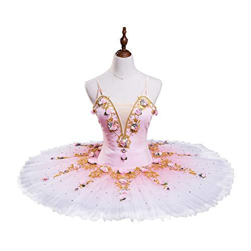 N-A - Disfraz de baile, falda de ballet, falda de cisne, color rosa, M