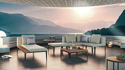 ARTELIA Dominica L Loungemöbel - Aluminium Premium Gartenmöbel Set für Terrasse, Garten und Wintergarten, Alu Sitzgruppe Terrassenmöbel Grau