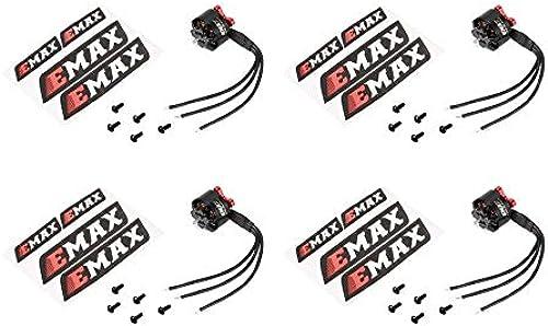 Ningbao 4 PCS Emax RS1306B 2700KV 3-4S Moteur sans Balai Puissant et léger pour Les pièces de Rechange de quadricoptère de Micro-Course FPV Racing RC