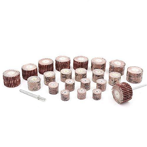 GFHDGTH 10 stuks Dremel accessoires 80-600 slijpschijf slijpschijven kwast zand draaigereedschap met 3 mm pleel, 15mm, 320