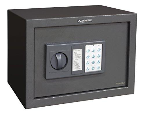 Arregui T25EB Caja fuerte de sobreponer electrónica (350 x 250 x 250 mm), Gris oscuro