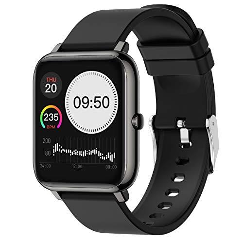 Smart Watch, Waterproof Activity Tracker Heart Rate Monitor Wearable Oxygen Blood Pressure Fitness Tracker Bluetooth Running Watch