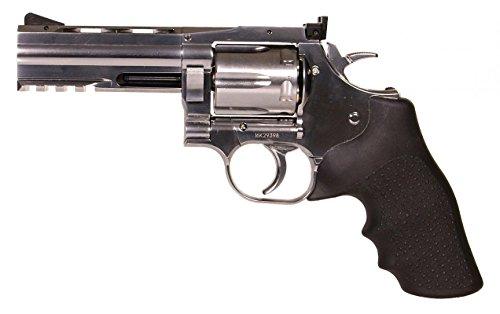 Asg- Revolver Airsoft-DW715 4P Co2 Versión Totalmente metálica con enchufes de Baja Potencia-Semiautomática-Potencia 0.5 Julios