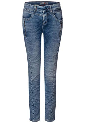 Street One Damen 372418 Bob Loose Fit Slim Jeans, Heavy Random Bleach wash, W29/L30 (Herstellergröße:29)