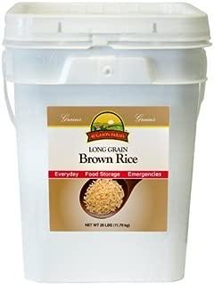Long Grain Brown Rice, 26 LB Pail by Augason Farms