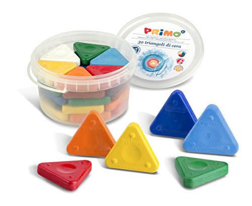 Primo Triangle Crayons, Assorted Colors, Tub of 30 (0771TR)