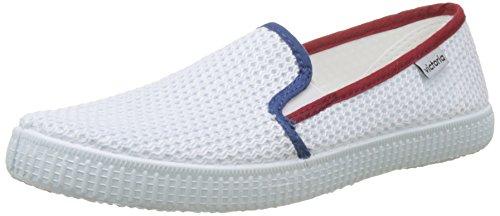 victoria Męskie buty Slip On Rejilla/Tricolor Sneaker, biały - Weiß Blanco - 36 EU