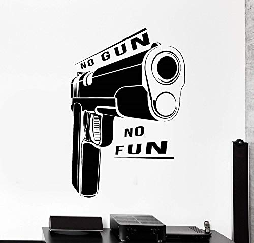 HNXDP Militärwaffe Waffe Vinyl Wandtattoo Waffe Zitat Shop Waffe Militär Aufkleber Wandbild Home Wohnzimmer Dekoration QC23 85x57cm