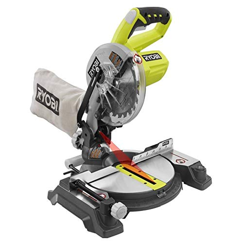 Ryobi ZRP551 ONE Plus 18V Cordless 7-1/4 in. Miter Saw with Laser (Tool Only - Battery and Charger NOT Included) (Renewed)