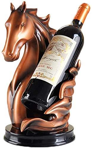 Botellero decorativo botellero original, usado para ideas de regalo de caballo escultura de botella 17 x 20 x 31
