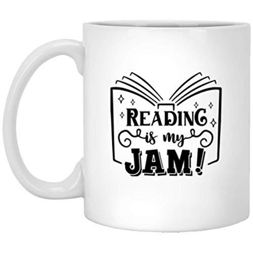 N\A La Lectura es mi Taza de Mermelada para los Amantes de los Libros de Lectura, Taza de café de ratón de Biblioteca, Regalo, Taza de té de Bibliotecario Adicto a los Libros