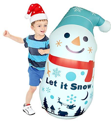 FanLe Aufblasbarer Schneemann-Becher, aufblasbares Spielzeug für Kinder, 110 cm, aufblasbarer Schneemann für Zuhause, Innen- und Außenbereich, als Dekoration für den Hof