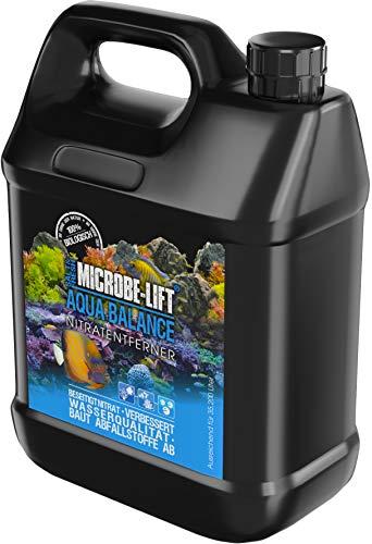 MICROBE-LIFT Aqua Balance - reinigt das Aquarium, reduziert die Anzahl der Wasserwechsel, entfernt Nitrat, Süß- und Meerwasser, 3785ml