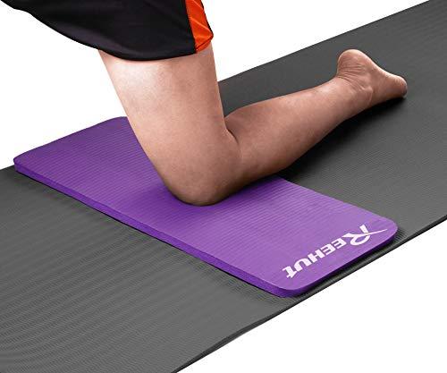 REEHUT Colchonetas de Pilates, Almohadilla de Yoga para Rodillas o Codos - Cojín de con Grosor de 15 mm - Evita el Dolor Durante Fitness(Morado