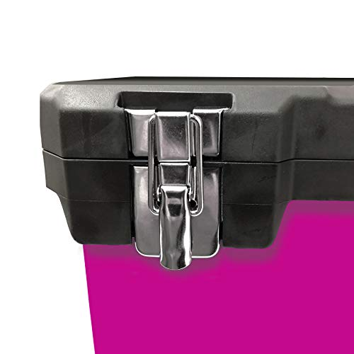 The Original Pink Box 20-Inch Portable Steel Toolbox With Removeable Tray