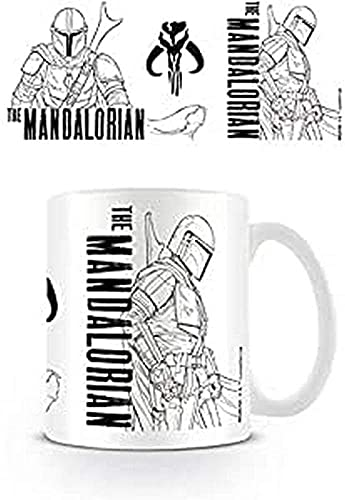 Star Wars: The Mandalorian (Line Art) - Taza